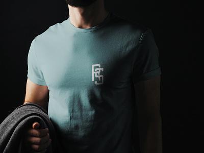 RS Monogram Shirt typography shirt mockup shirt design shirt monogram design logo identity brand branding brand identity logo design logo