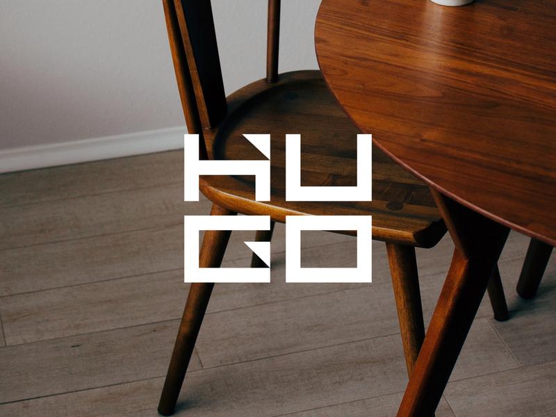 Hugo Stacked modern logo typography logotype minimal logo designer logo identity brand branding brand identity logo design logo