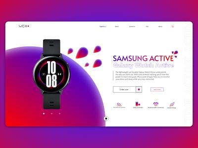 WCH websait adobe xd photoshop graphic design motion blur design webdesign web samsung active watch