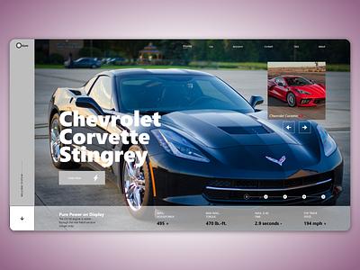 Otium websait ... adobexd ux ui design webdesign websait web shevrolet supercar car