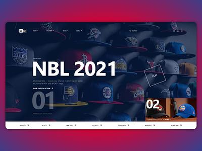 New Era new websait sport mlb nba shoes suit cup newera ... trending design ux ui webdesign web