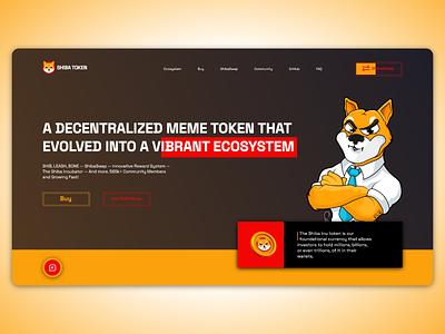 Shiba Token websait trending ... renewed webtrend eth shiba token ilustration design webdesign web ui btc shiba crypto