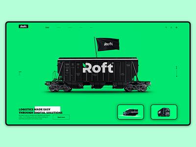 Roft websait delivery trending ... ui websait branding landingpage design webdesign web green black white
