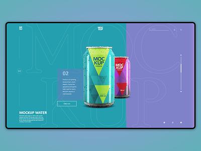Mockup websait white purple green blue branding ... trending websait ui design webdesign web soda water beer