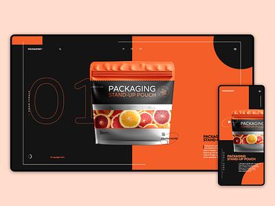 Packaging websait & app appdesign app oranges orange black white fruit trending ... websait ui design webdesign web branding
