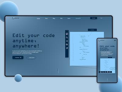 PanGraf websait trending ... websait design ui webdesign web blue black white program programming code