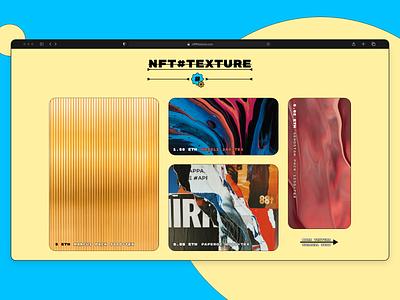 NFT#TEXTURE websait branding logo illustration trending websait ui ... design webdesign web nft store texture