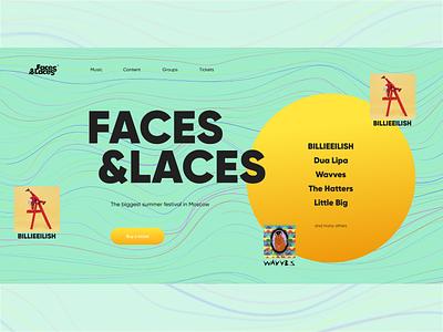 Music Festival singer author dj music online festival branding graphic design ui