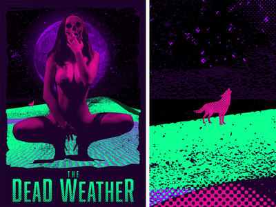 The Dead Weather vector babe skull gig weather dead fun poster