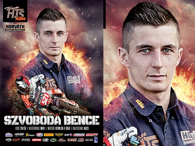 Szvoboda Bence MX Rider motocross photoshop movie poster pro mx