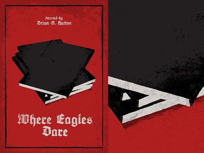 Where Eagles Dare ww2 movie vintage minimal poster