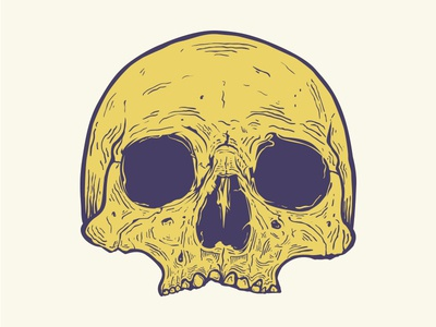 First Vector Skull illustration vector death draw wacom skull