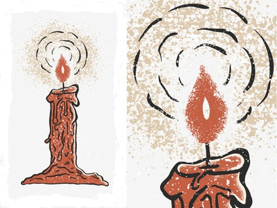 Vector Candle vector illustrator wacom candle