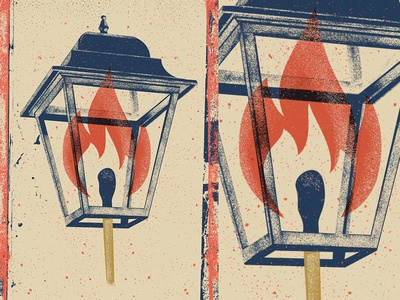 Ornamental Lamp distress match fire vintage poster fun flame lamp photoshop