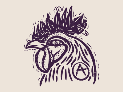 Punk Kakas vector vintage apparel design illustration handdraw punk rooster kakas