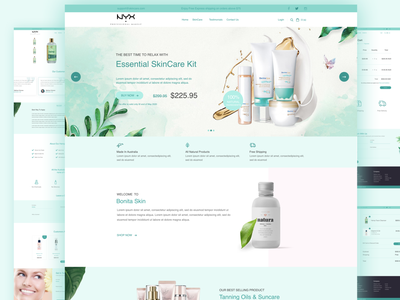 Cosmetics Website website makup cosmetics checkout payment banner detail page homepage
