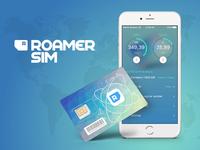 R Sim chip logo simcard sim iphone gradient app ui