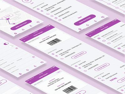 Logistic App outline delivery logistic application details ordering order app mobile ios