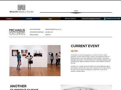Galleries page artschool education webdesign gallery