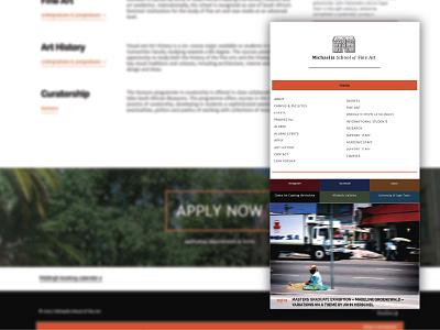 Art school redesign artschool education webdesign gallery