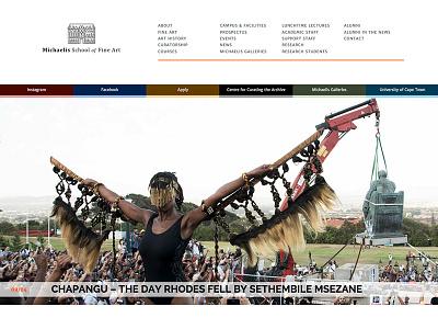 Michaelis School of Fine Art website Launched artschool education webdesign gallery responsive