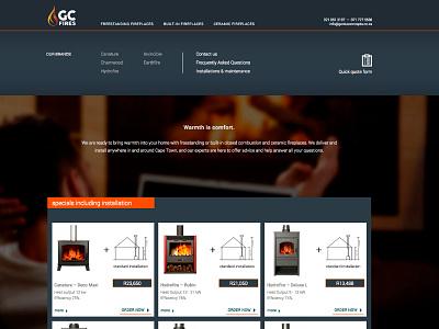 Fireplace company update website shop fireplaces webdesign