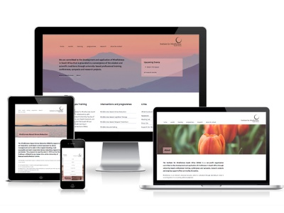 Institute for Mindfulness South Africa not for profit wordpress webdesign