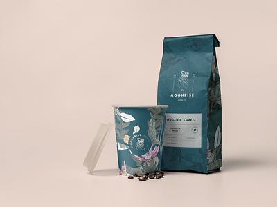 MOONRISE COFFEE HOUSE- PACKAGING DESIGN vector illustration design art logo graphic design branding