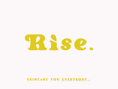 Rise Beauty- Logo Design typography vector logo design graphic design art