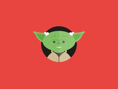 Yoda starwars wars star illustrator icon flat illustration vector yoda