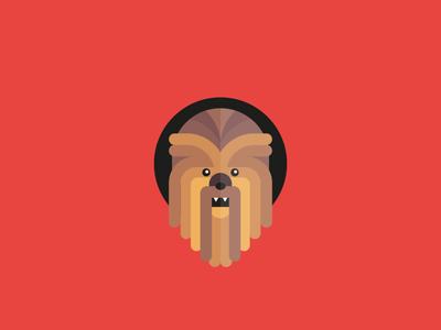 Chewbacca wars star illustrator icon flat illustration vector chewbacca starwars