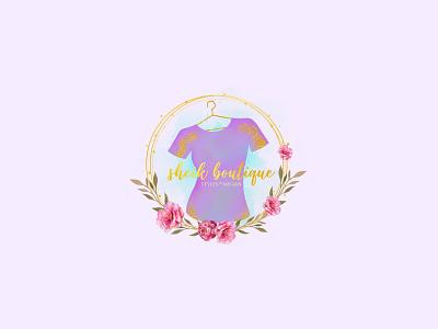 Boutique lylac feminine logo shirt logo font beauty logo animation design fiverr feminine logo watercolor illustration logodesign logos flower illustration flower logo