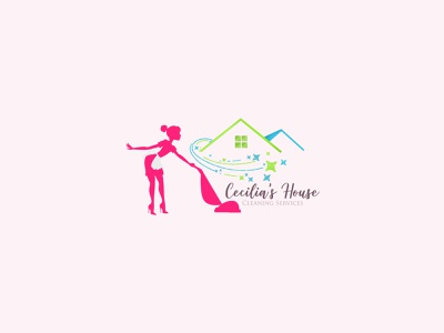 Cleaning home service Feminine logo assistant sexy girl logodesign fiverr branding illustration watercolor feminine feminine logos feminine design feminine logo beauty logo logo design cleaning service cleaning logo