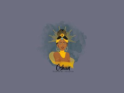 Feminine Oshun Goddess beauty salon animation logo design flower logo boutique beauty logo logodesign fiverr branding feminine watercolor feminine logo