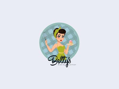 Disney cup cake Feminine logo betty boop character animation characterdesign illustration art bakery packaging cakery boutique flower logo logodesign design branding watercolor feminine bakery logo cake logo beauty logo feminine logo disney art