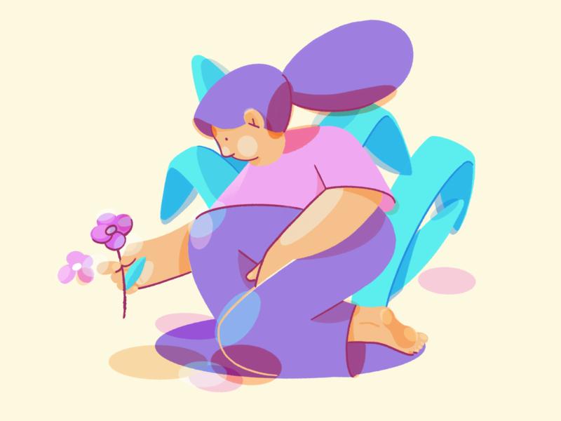 Colors flat ipad procreate character illustration