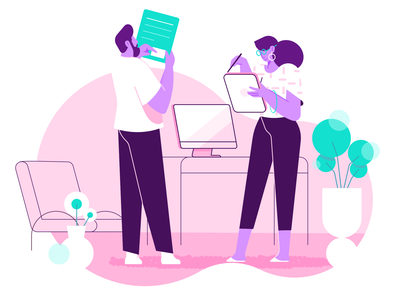 Pink characterdesign workspace pink illustration vector clean