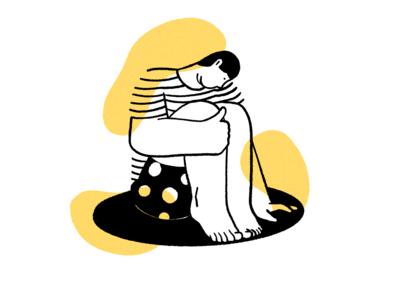 Loneliness illustration art man simple procreate illustration