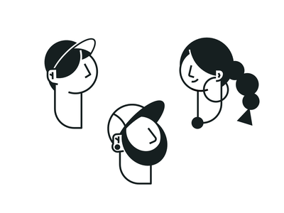 Characters study - Head clean simple character illustration vector