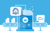 Automate website deployment with Buddy and Docker - Illustration