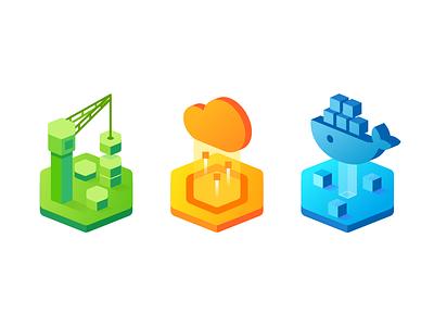 Icon Set affinity designer docker deploy build icon