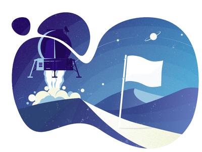 lunar lander - Illustration
