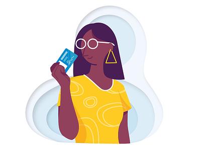ID card - Illustration card id character illustration vector