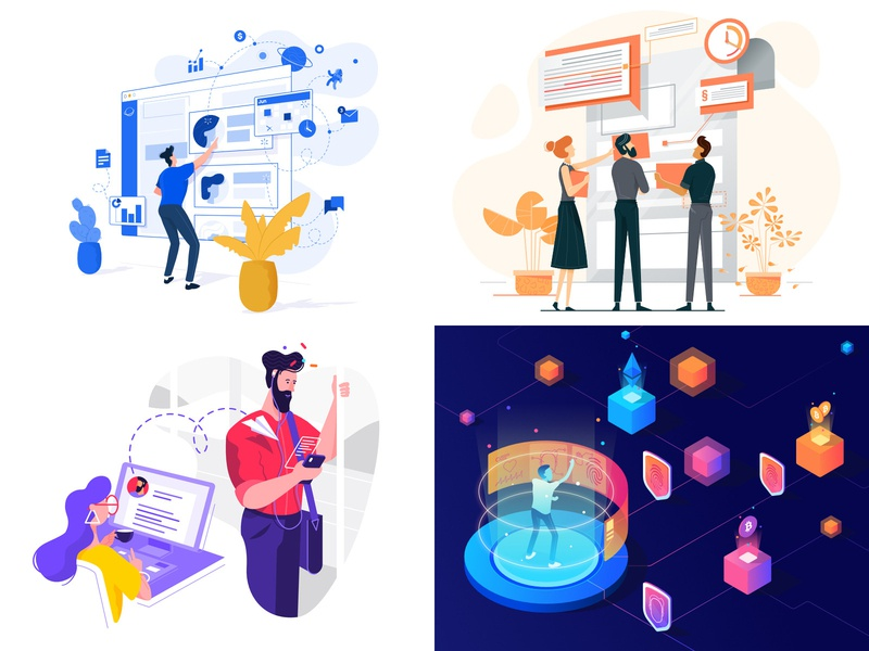 2018 simple affinity designer webpage illustration character vector