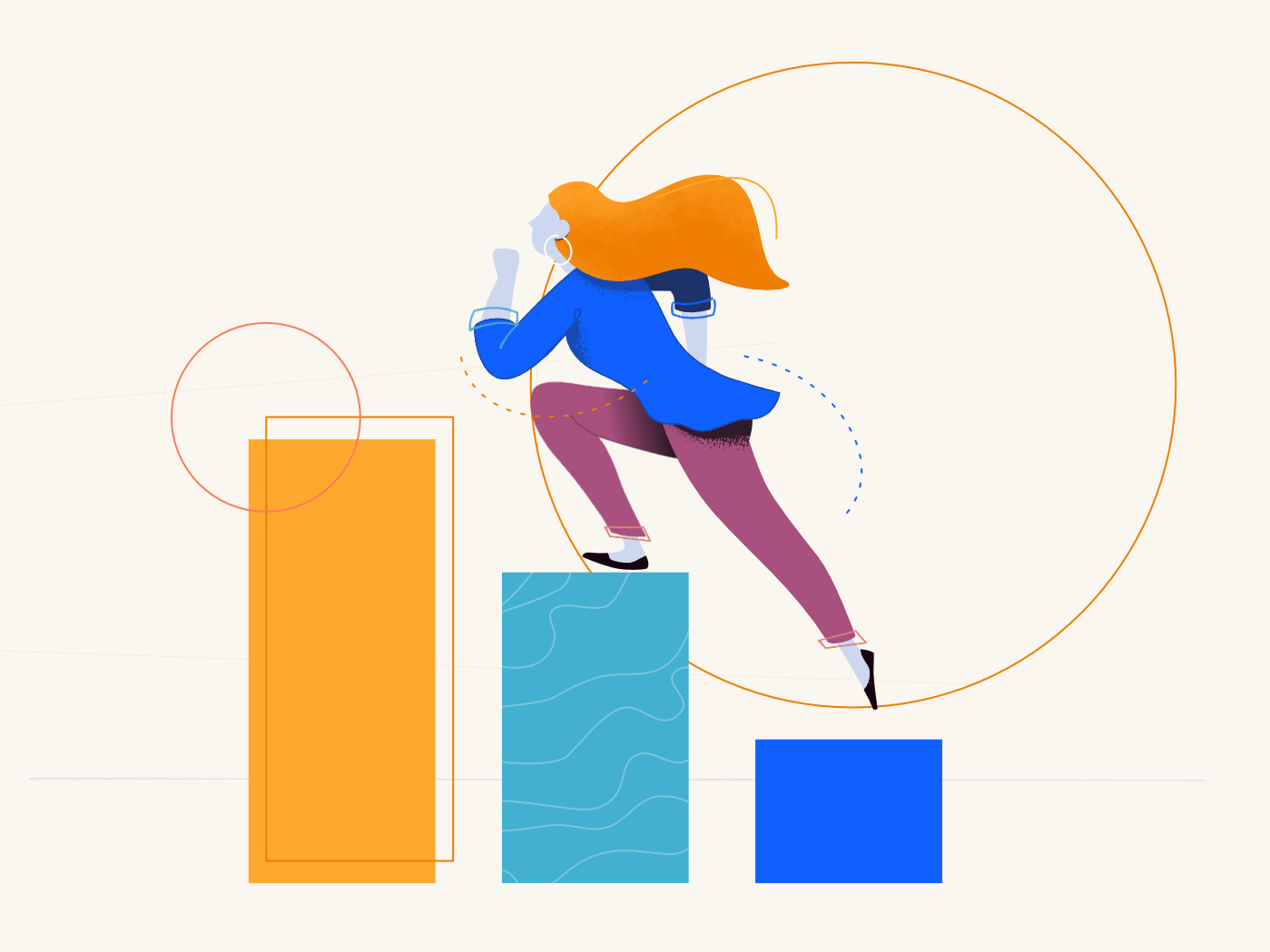 Fast Growth pattern webpage woman flat affinity designer clean illustration character vector