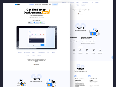 Buddy.Works - landing page illustraion webdesign website ui landing page design landingpage product page clean