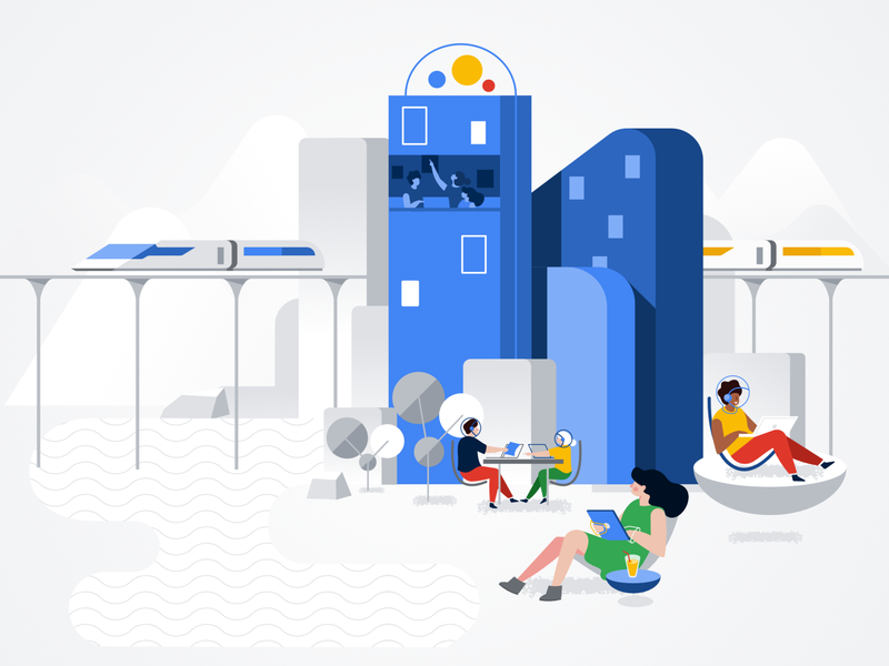Illustration created for Google Cloud Identity google clean affinity designer simple character illustration vector