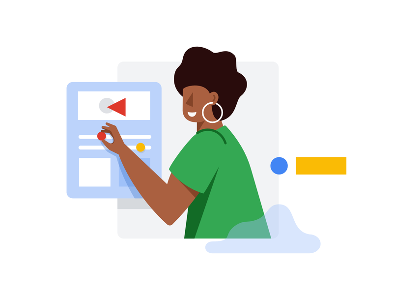 Google Cloud Identity - Characters google vector woman man clean affinity designer simple character