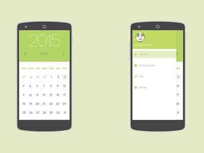 Calendar 2015 clean calendar nexus nexus5 phone