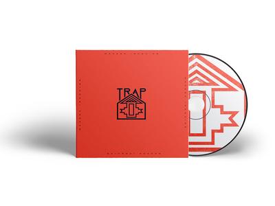Traphouse Logo And Cd album cover album cover art cd design logo design